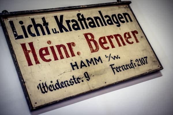 Heinrich Berner Firmenschild